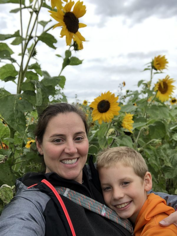 Selfie in the Sunflower Field
