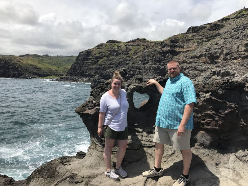 Visiting Heart Rock in Maui