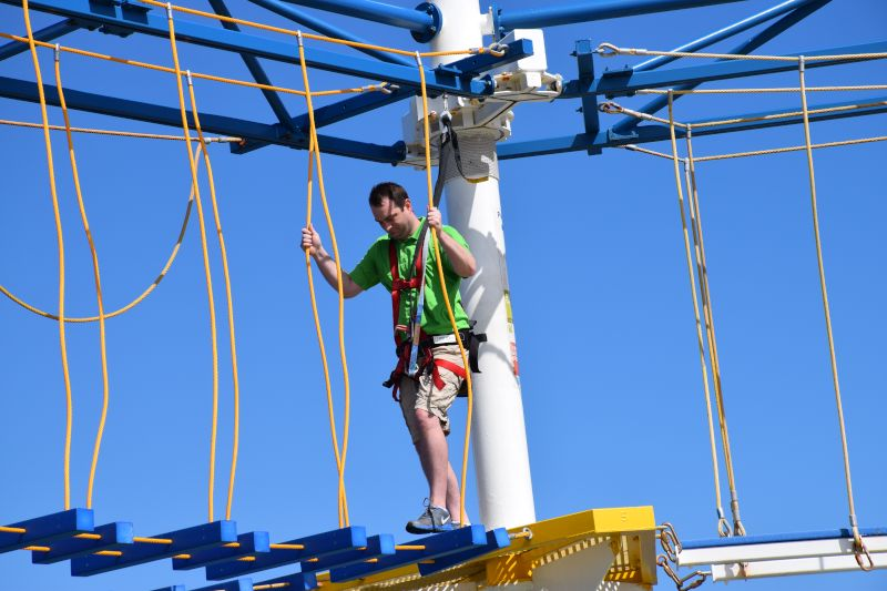 Navigating a Ropes Course on a Cruise Ship