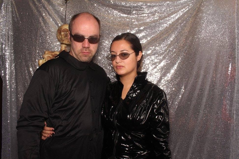 Halloween Party - We Went as Neyo & Trinity from the Matrix