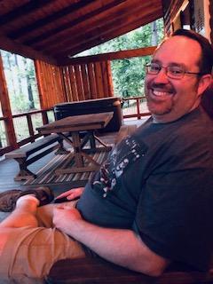 Steven Enjoying Time a Cabin in Oklahoma