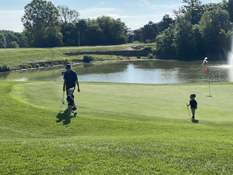 Brad Loves to Play Golf - Especially With the Kids!