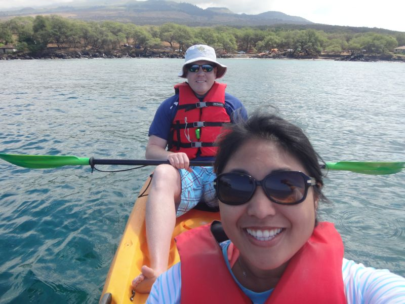 Excited For a Whale Watching Kayak Tour