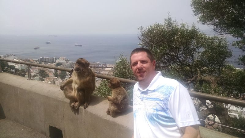 Hanging With Monkeys in Spain