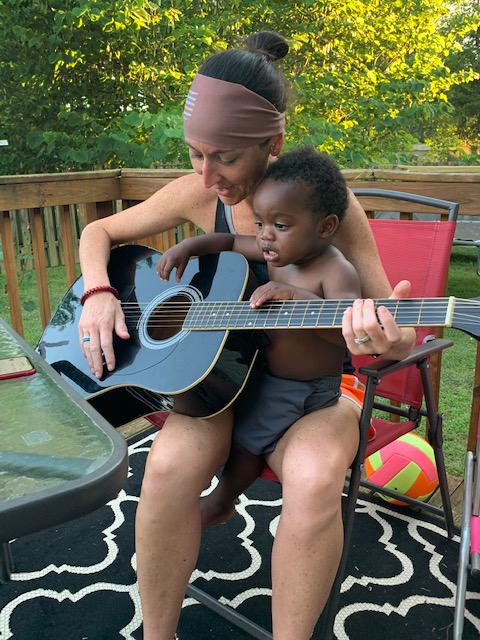 Lauren & Beau Playing Guitar