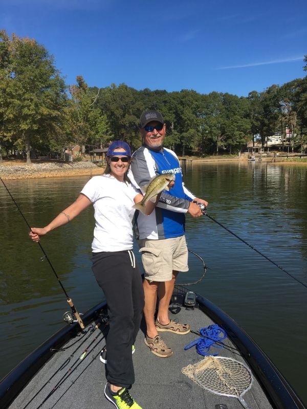 Amanda Fishing With Her Dad