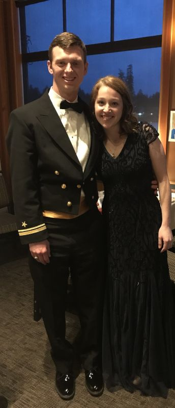 Dressed Up for a Navy Function