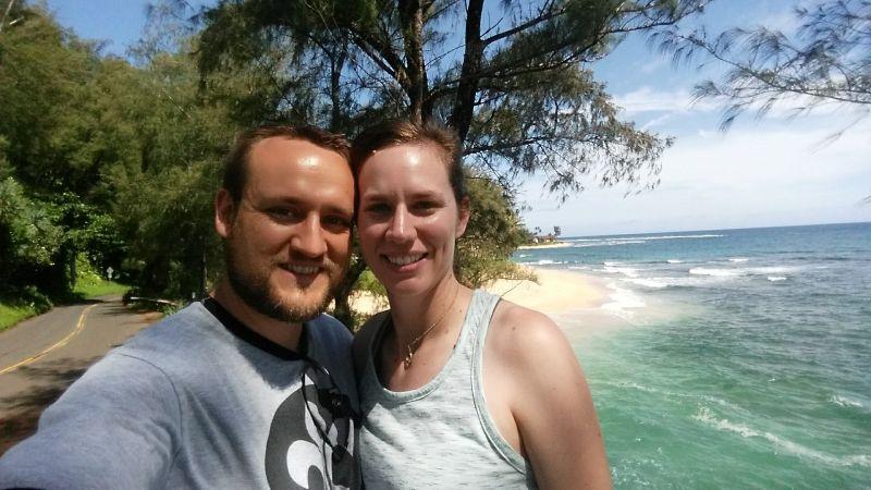 On the Beach in Hawaii