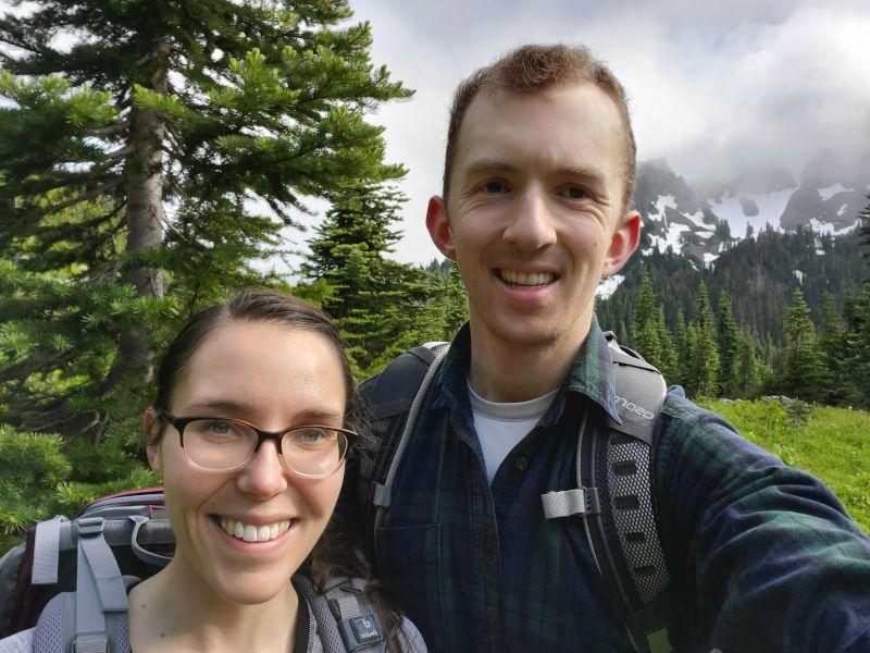 Hiking on Mt. Rainier