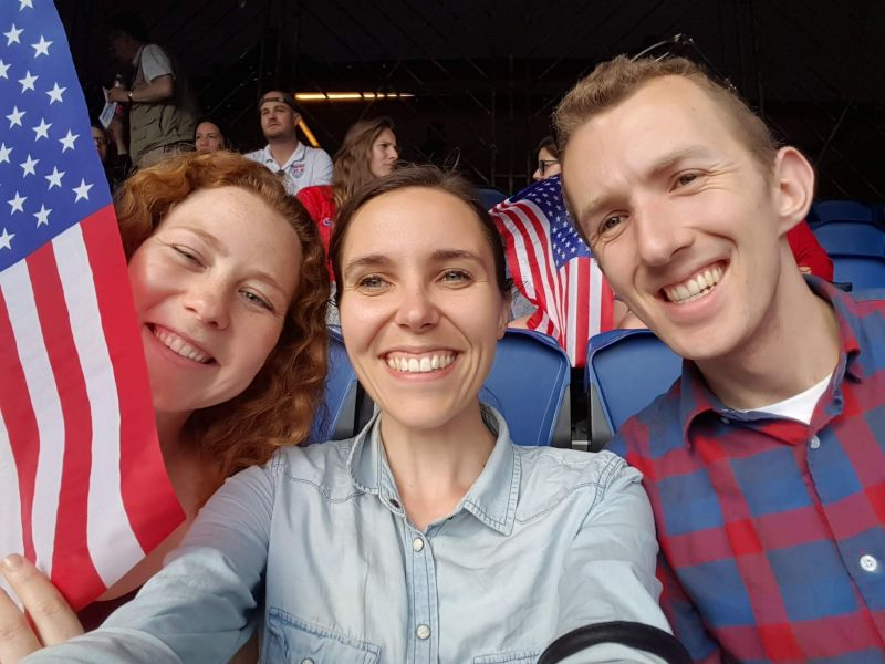 Watching the Women's World Cup Game in Paris, France