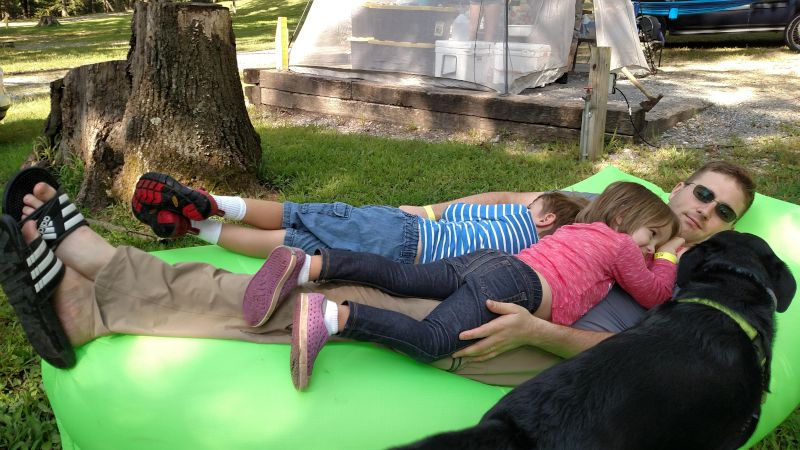 Relaxing at the Campground with Our Niece & Nephew