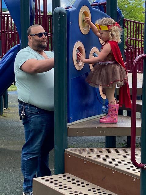 Super Hero Play at the Playground