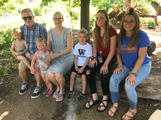 All of the Cousins With Grandparents at Our Favorite Park