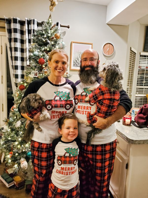 Matching PJs for the Whole Family (Even the Dogs)!