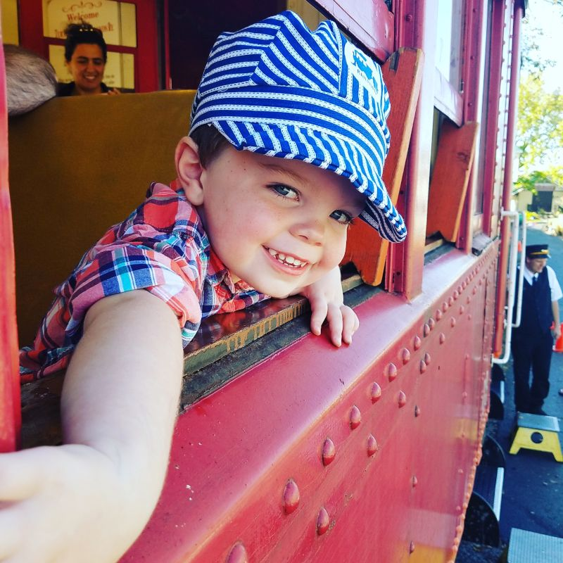 Jackson Enjoys Going for Train Rides