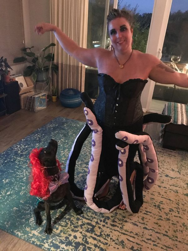 Sarah & Her Homemade Ursula Costume