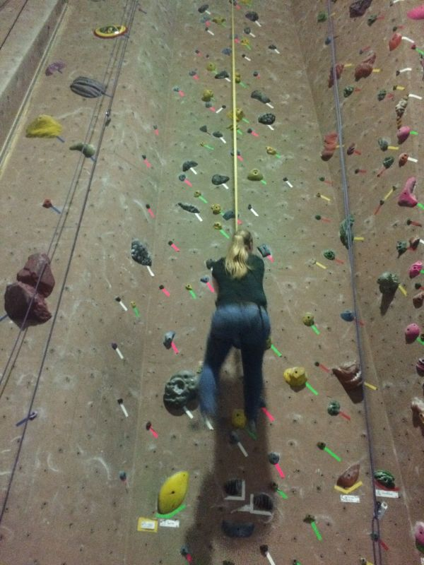 Meghan Rock Climbing