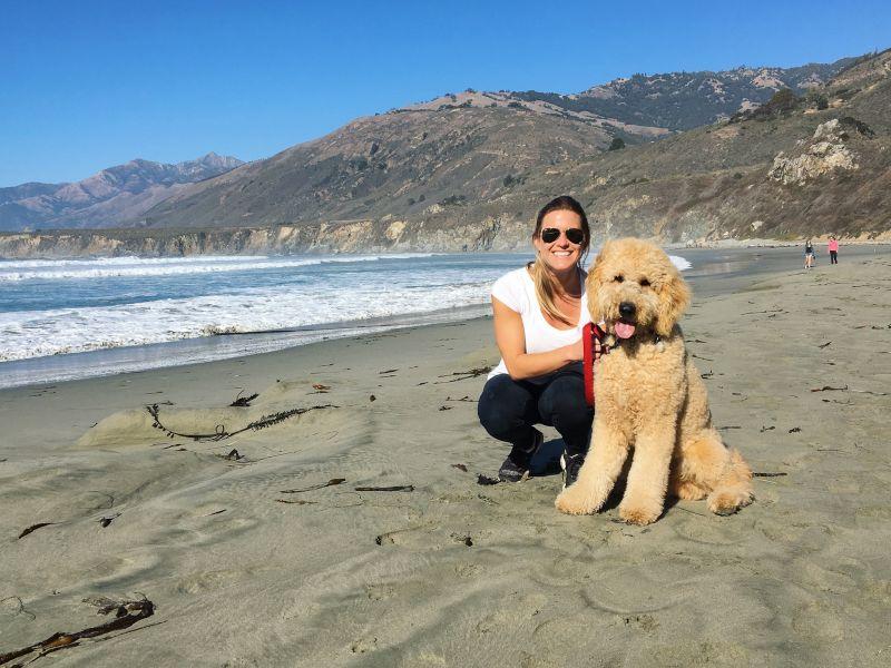 Meghan & Kona on a Morning Walk in California