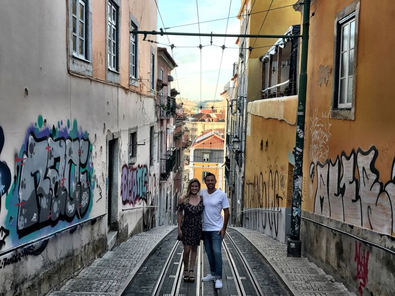 On a Walk to Dinner in Lisbon, Portugal