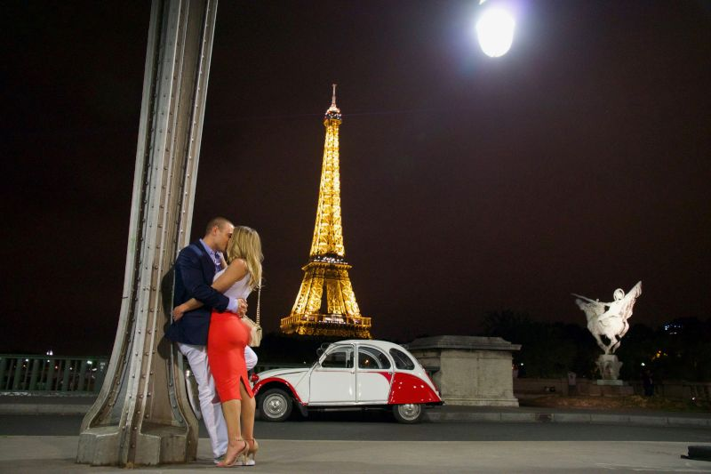 By the Eiffel Tower in Paris