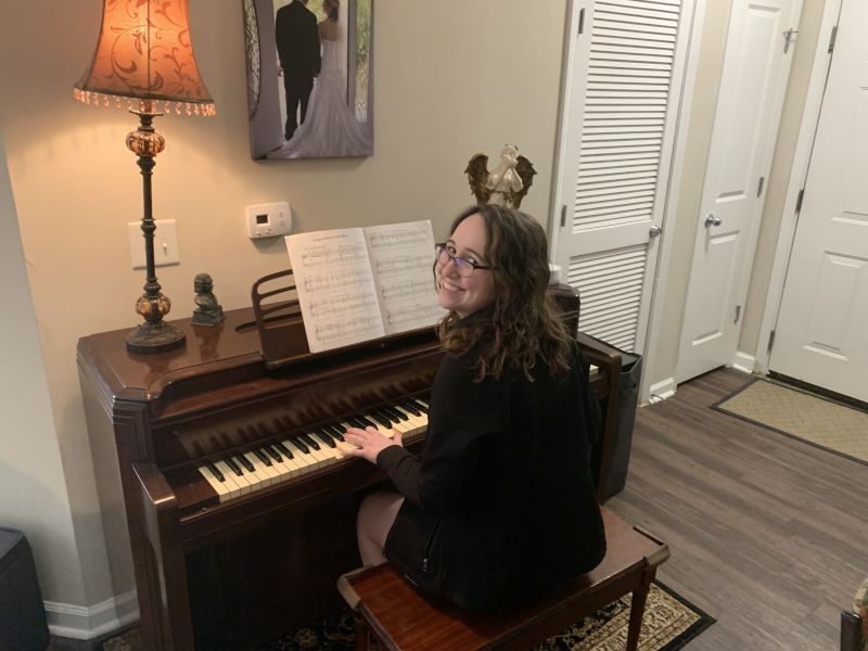 Carolyn Playing the Piano