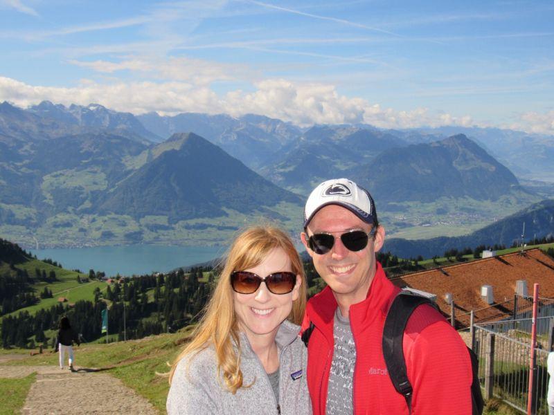 Top of Mt. Rigi in Switzerland