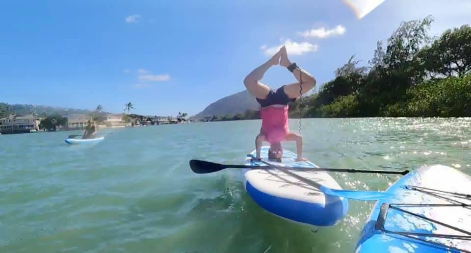Rachel Having Fun on the Paddleboard