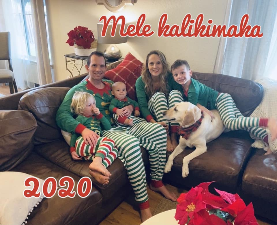 Matching Christmas PJs are a Family Tradition