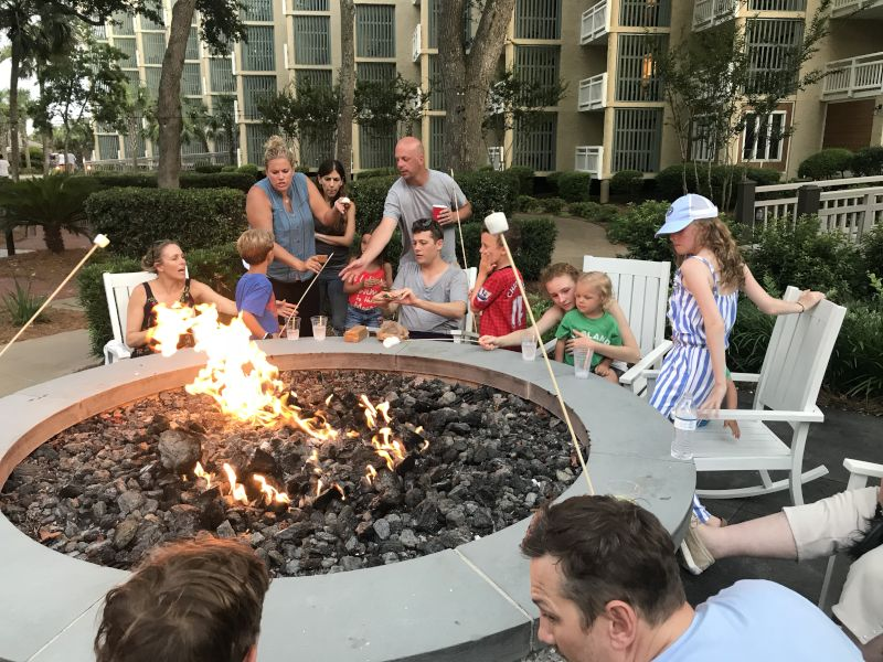 Roasting S'mores With Andy's Family