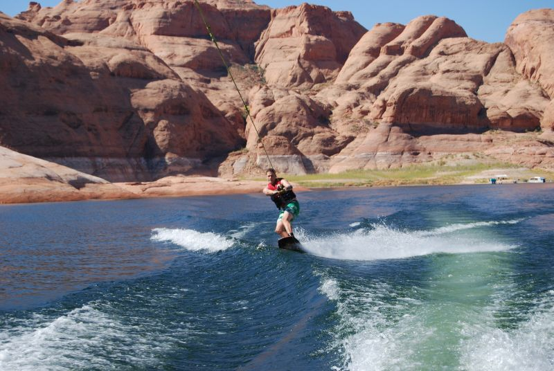 Wakeboarding at the Lake