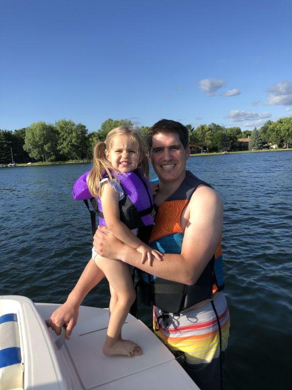 Going for a Swim Off Grandpa's Boat