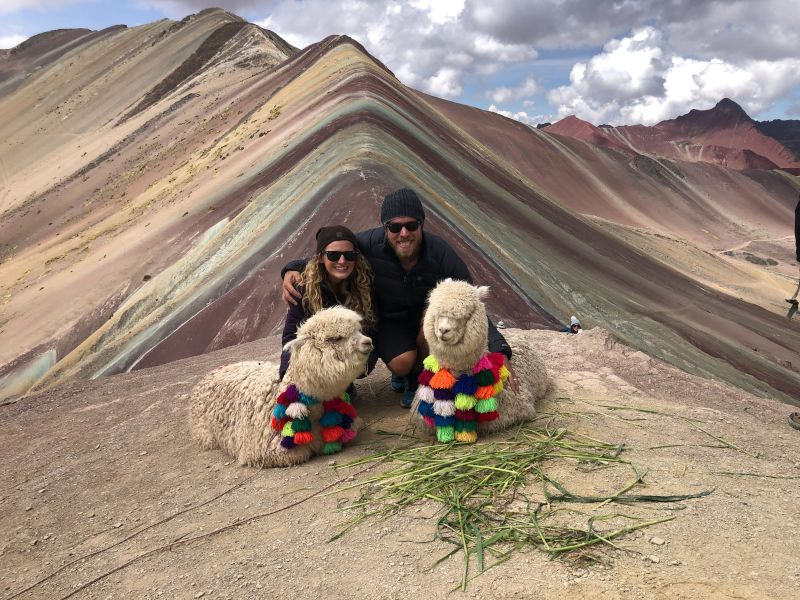At the Rainbow Mountain in Peru