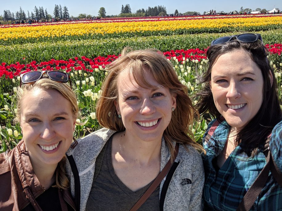 Megan & Friends Checking Out the Tulip Fields