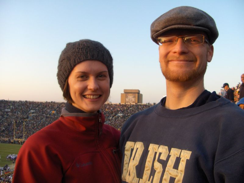 Notre Dame Football Game - Go Irish!
