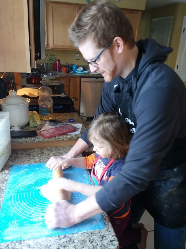 Making Tortillas With Dad