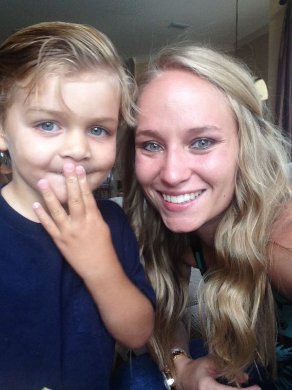 Andrea With Our Cute Cousin, Nolan