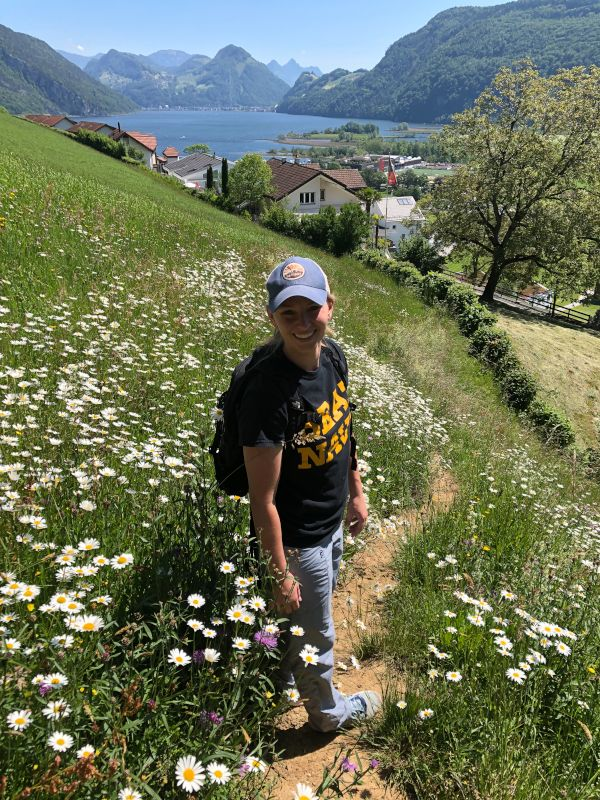 Andrea Hiking in Switzerland