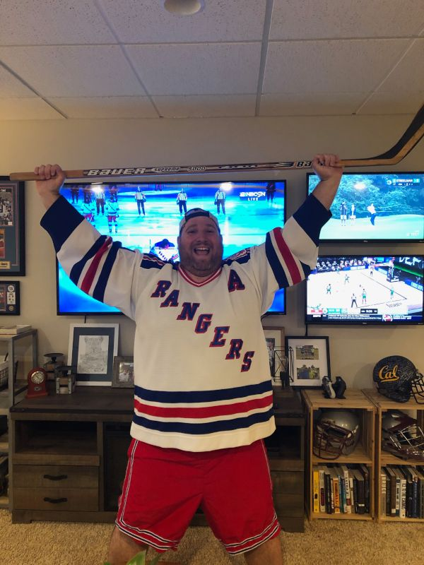 Brian Loves to Cheer on the Rangers