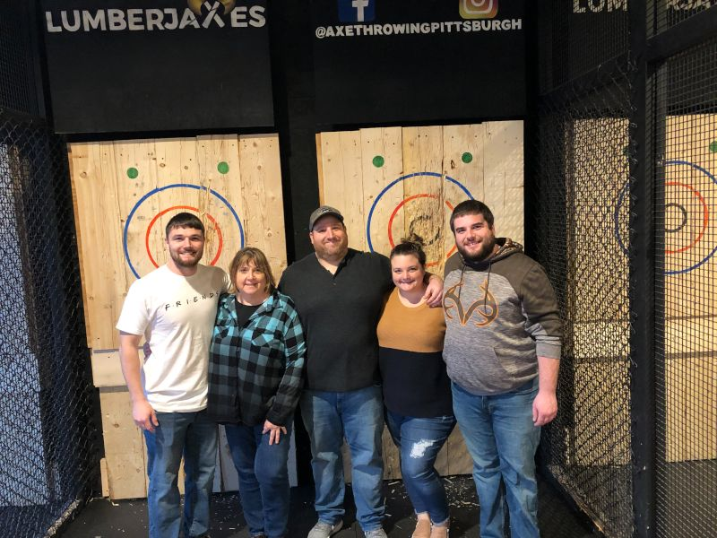 Ax Throwing with Leah's Mom