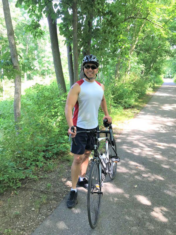 Scott Loves to Bike in the Summer
