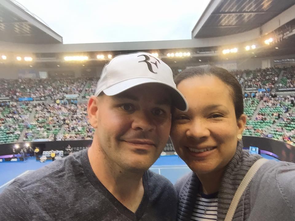 At the Australian Open