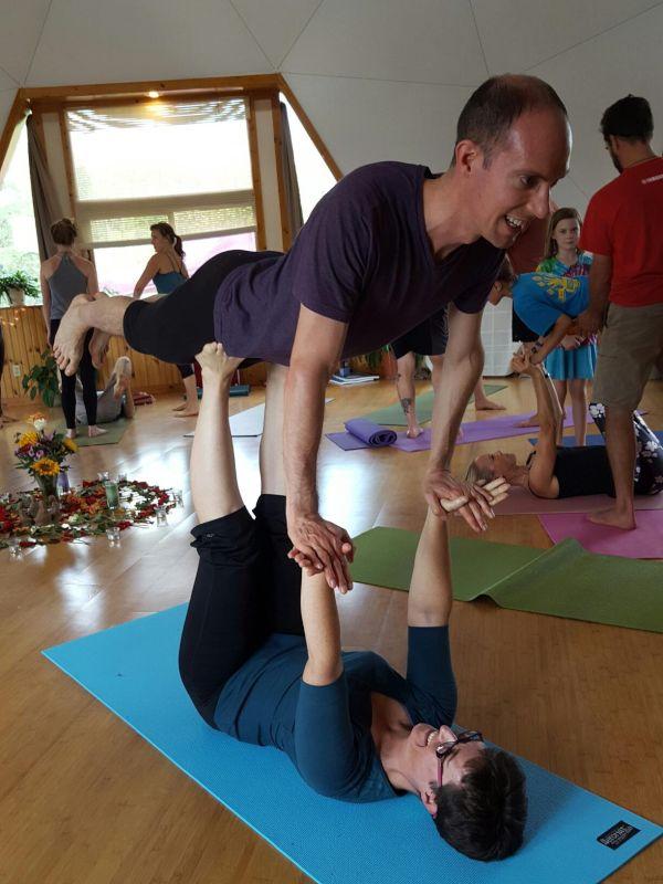Doing Acro-Yoga