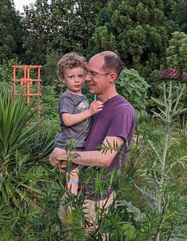 Exploring a Nearby Garden
