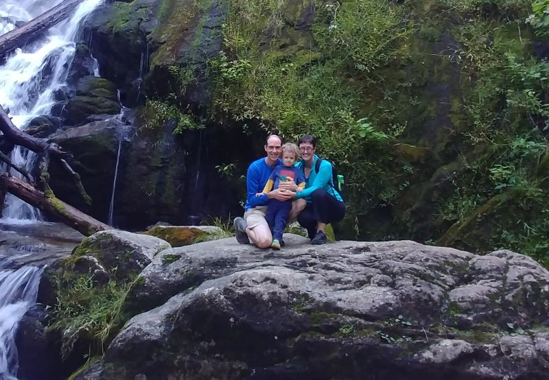 Family Hike to a Waterfall