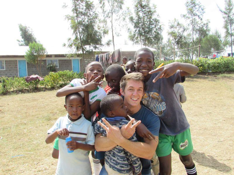 Nick on a Mission Trip in Kenya