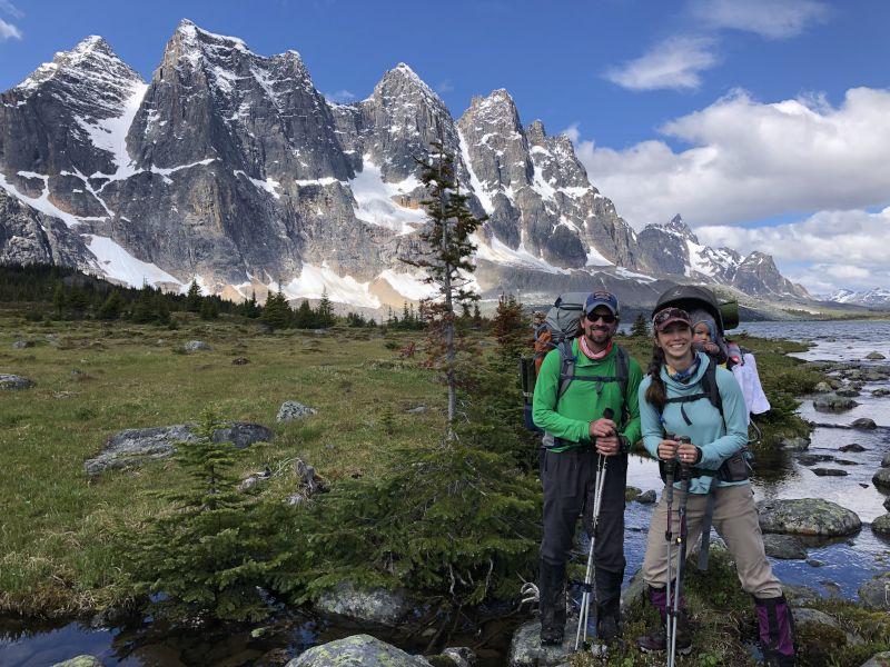 Backpacking in Jasper National Park in Canada