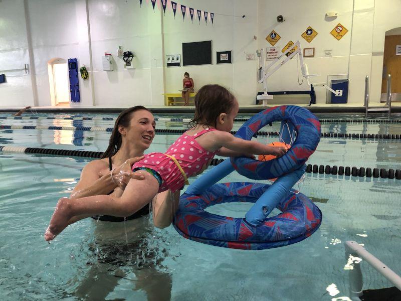 Jen Enjoys Swimming & Loves Teaching Willow How to Swim