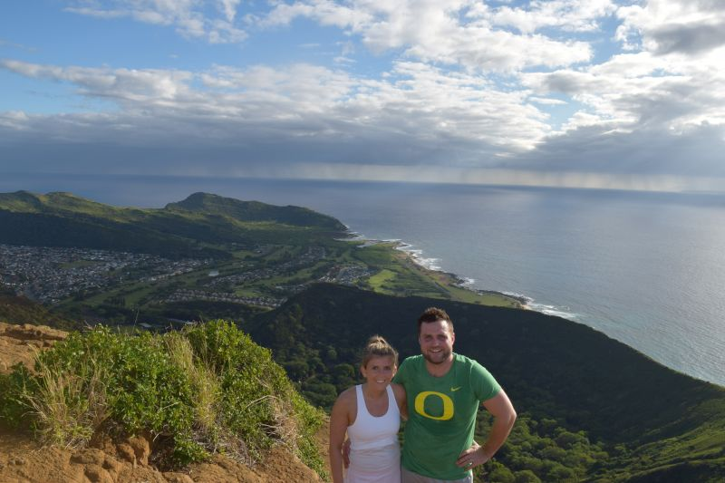Atop KoKo Crater in Hawaii