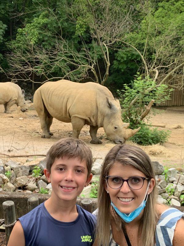 Ashley & Our Nephew Enjoying the Zoo
