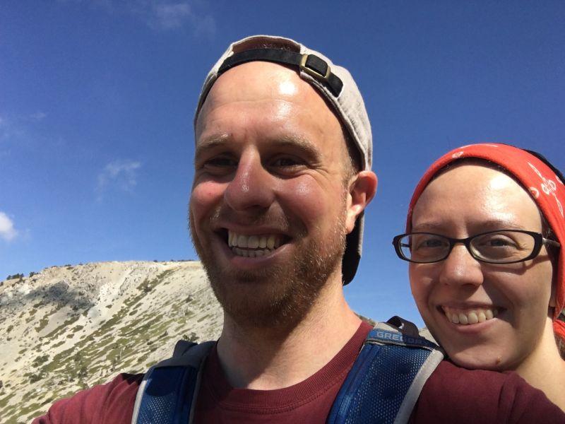 Selfie on Mt. Baldy in California